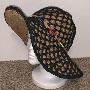 Betsey Johnson Braided Floppy Straw Hat